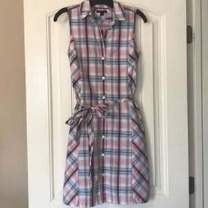 Tommy Hilfiger Plaid Shirt Dress Size Small
